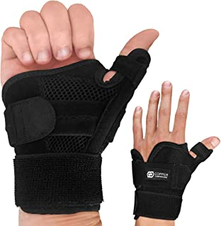 Copper Compression Recovery Thumb Brace - Guaranteed Highest Copper Thumb Spica Splint for Arthritis, Tendonitis. Fits Both Right Hand and Left Hand. Wrist, Hand, and Thumb Stabilizer and Immobilizer