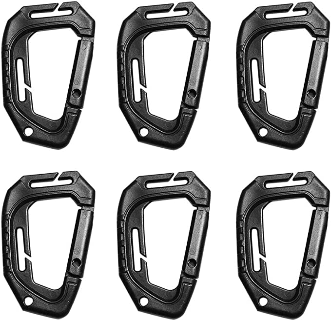 Tactical Carabiner Backpack Hooks Hiking Hanger Buckle Triangle Key Chain Clip