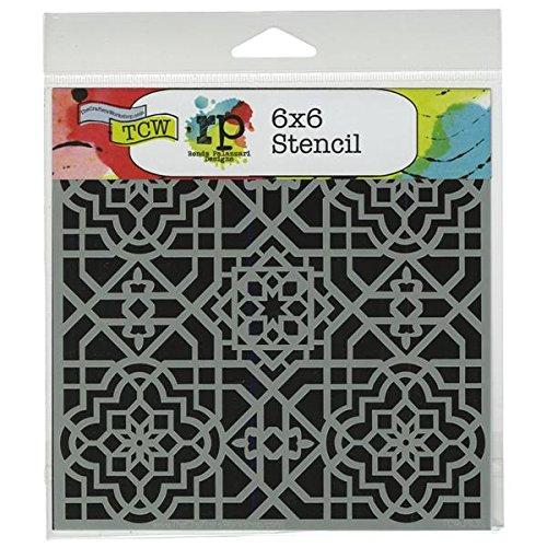 Crafters Workshop - Plantillas para Estarcido (15,24x15,24cm), diseño de celosía árabe