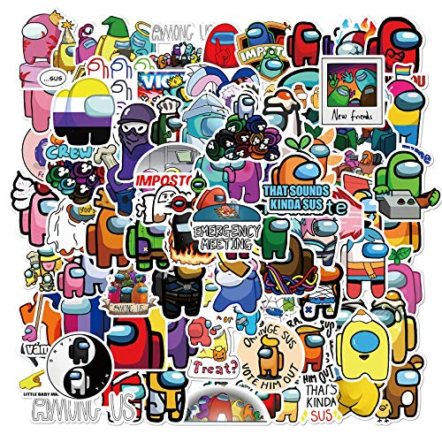 100PCS Amon_g Us Stickers Video Gaming Stickers Waterproof Vinyl Stickers for Kids Teens Boys Adults Laptop Water Bottle Skateboard