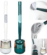 YAYANG Hervulbare TPR toiletborstel, rubberen hoofdhouder reinigingsborstel, wandmontage zachte siliconen toiletborstel, h...