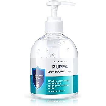 Purea Hand Sanitizer Gel 75% Alcohol, Original with Pump, 16.9 Fl Ounce/500mL