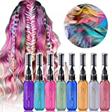MS.DEAR Temporary Hair Color Chalk 8 Colors Easy Wash Out Hair Color...