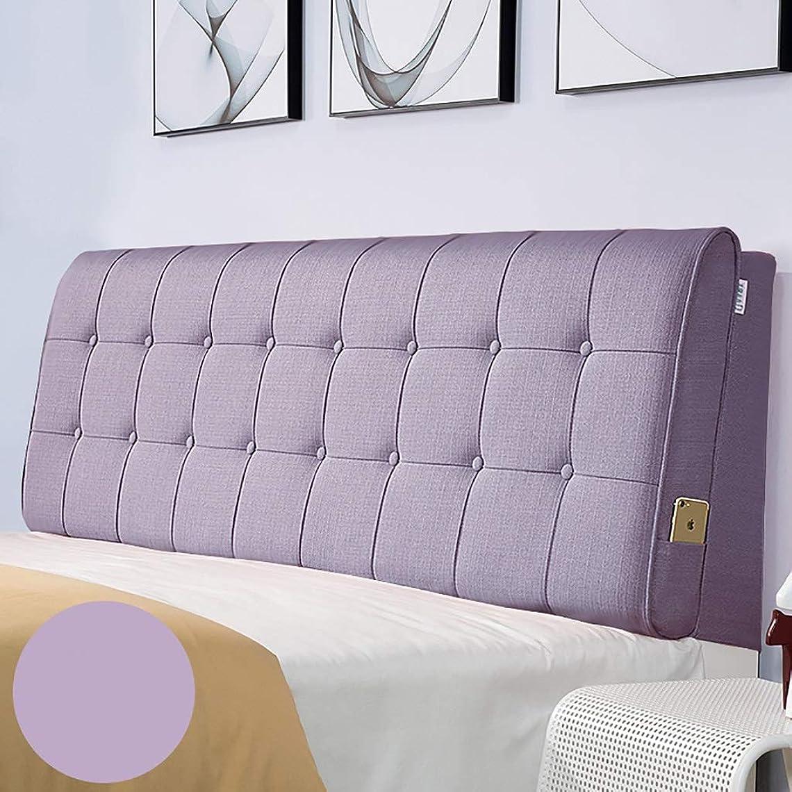 力学予言する準備するベッド枕 多色オプションのベッドヘッドクッションクッション大バックヘッドボードソフトカバー生地畳取り外し可能と洗える綿とリネン素材サイズ90センチメートル - 200センチメートルオプション 写真ベッド枕首まくら (色 : I, サイズ さいず : No bed(200*60))