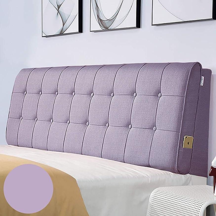 差別的欠席望まないベッド枕 多色オプションのベッドヘッドクッションクッション大バックヘッドボードソフトカバー生地畳取り外し可能と洗える綿とリネン素材サイズ90センチメートル - 200センチメートルオプション 写真ベッド枕首まくら (色 : I, サイズ さいず : No bed(90*60))
