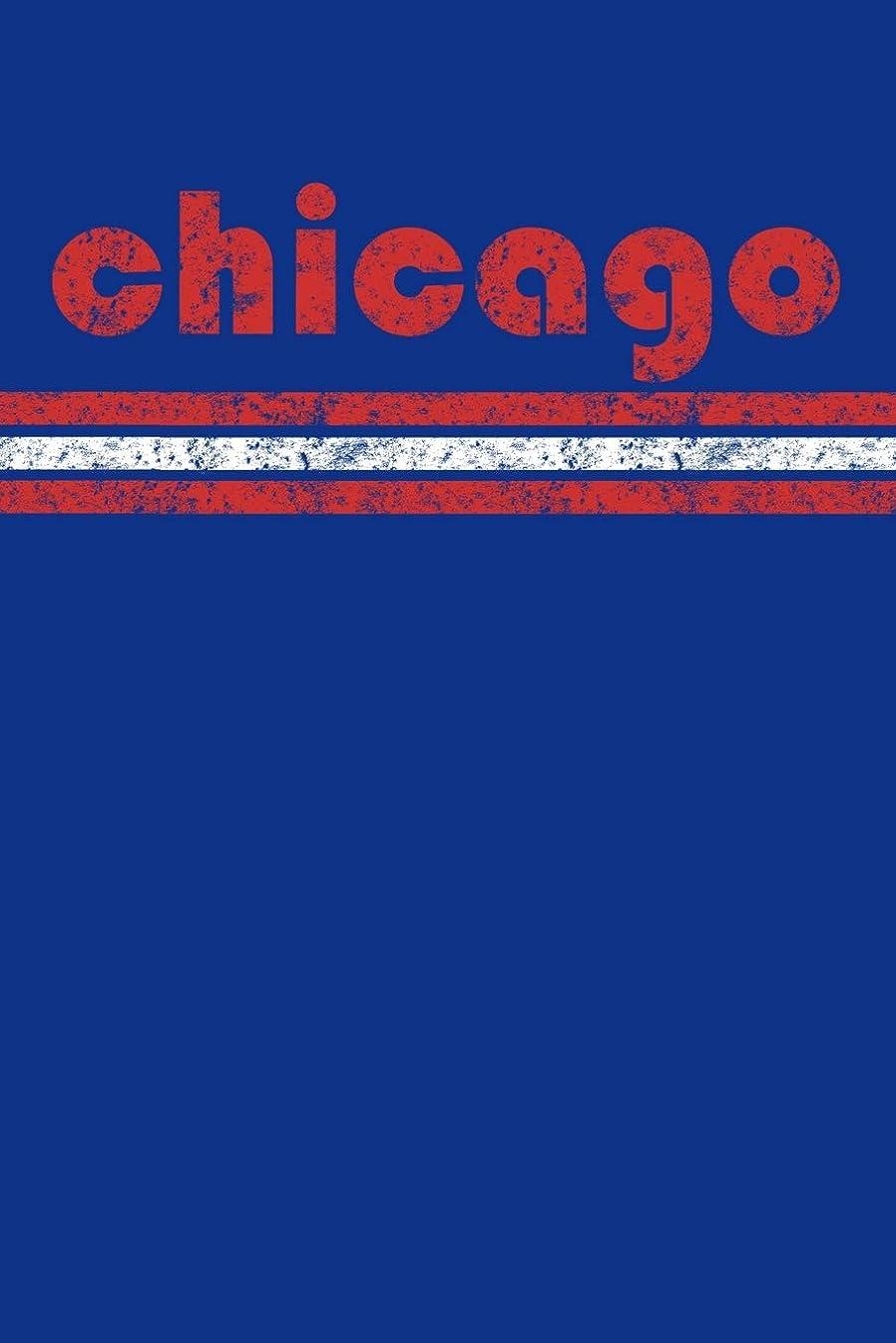 ラッカス面白いくるくるChicago: Illinois Notebook Journal Planner Retro Vintage Weathered 90 Pages