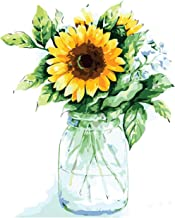 Tenei Paint by Numbers for Adults & Kids Sunflowers Oil Paint DIY Craft Paintings Art Set on Canvas Color by Number Kits A...