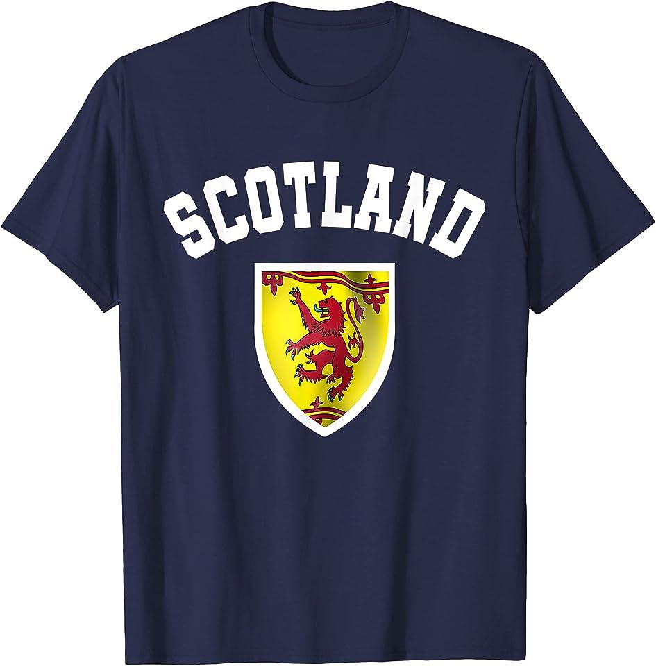 Fan Scot Football Top | Euro Retro Scotland Soccer Jersey T-Shirt
