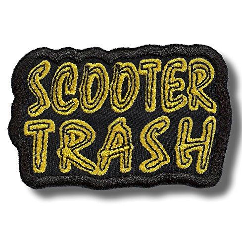 Scooter trash - bordado parche, 9 X 6 cm