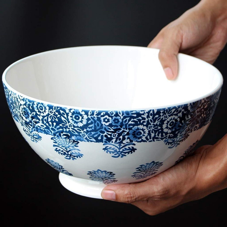 Xiao-bowl3 Porcelaine bol à raHommes vaisselle en céramique salade de fruits collations bols soupe bols à dessert fournitures de restaurant cuisine (Couleur   bleu)