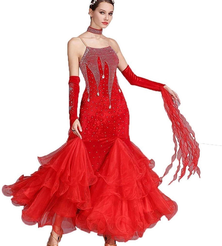 YTS Women Standard Ballroom Dance Competition Dresses Expansion Skirt Performance Dance Costumes Tango Waltz Dance Dress