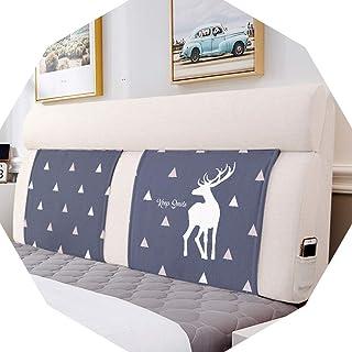 Oreillers de lecture Barture Respirant Double Tête de lit Coussins Multifonction avec tête de lit Flex Coussin Coton Lin 5...