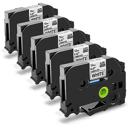 Compatibile Cassette TZe-B11 TZ-B11 nero su arancione fluorescente 6mm x 8m Nastro laminato per Brother P-Touch PT-1000 1005 1010 2530PC D210 D210VP D450VP D600VP H101C H105 H110 H300 H500 P700 P750W