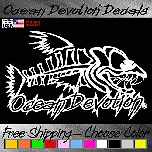 "Bonefish ""Ocean Devotion®"" Vinyl Decal / Sticker V1 - 5h x 8w Inches - Keywords... Sea Life, Fishing, Salt Life, Reel Life, Beach Life, Automobile, Car, Truck, Boat, Window"