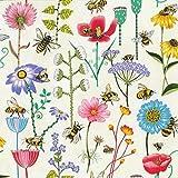 Nutex Baumwollstoff – Meterware Biene Haven – Floral