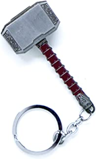 VNFLY Nidavellir Mjolnir Key Chain Avengers Thor Hammer Keychain Hammer Key Ring (Silver)