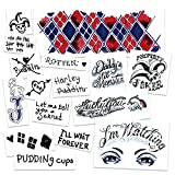 UPDATED for 2021 | Harley Quinn HQ Suicide Squad Temporary Tattoos | Skin Safe | MADE IN THE USA