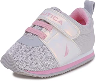 Nautica Infant Baby Shoe with Strap - Prewalker Crib Sneakers - Soft Sole Shoes for Newborn's First Walkers