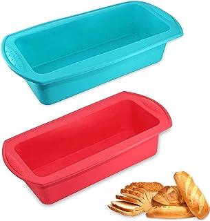 WELLXUNK® Moule à pain, Moule à pâtisserie Silicone, Moule à Cuisson Antiadhésif, pour Gâteaux Faits Maison, Pains, Pain d...