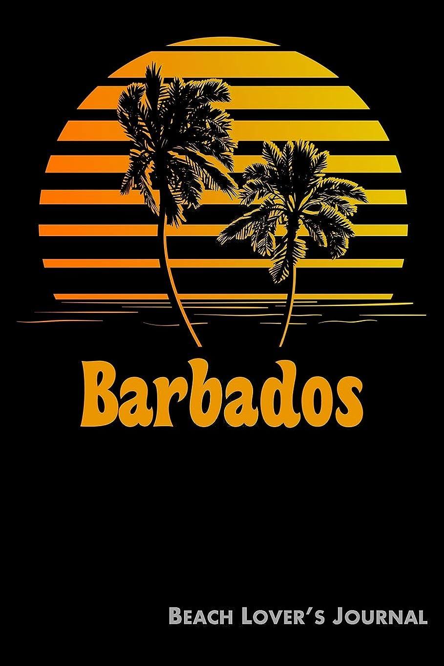 相続人降雨論争の的Barbados Beach Lover's Journal: Summer Vacation Diary with Beach Themed Stationary (6 x 9)