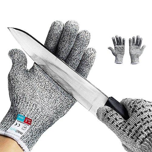 Guanti Antitaglio,InnoBeta guanti di sicurezza da lavoro, guanti antiscivolo Touch screen,guanti da cucina resistenti al taglio Protezione di Livello 5 ad Alte Prestazioni(M)