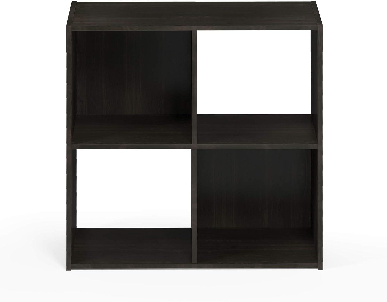 Furinno 18051EX Pelli Storage Shelves, 2x2, Espresso