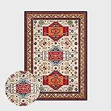 Alfombras Salon Grandes,Boho Large Size Non Slip Area Rugs Vintage Moroccan Geometric Stripes Soft Ethnic Carpet Outdoor Picnic Mat Art Home Decor For Living Dining Room Bedroom Kitchen,160X220Cm(62