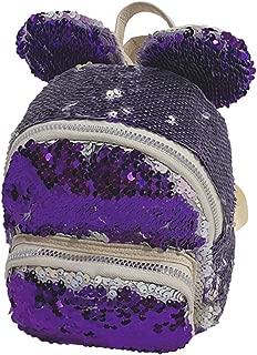 Huarll Fashion Flip Sequin Cute School Backpack for Kids Teen Daypack Glitter Sparkly Bookbag for Kindergarten Elementary (Purple,Free Size)