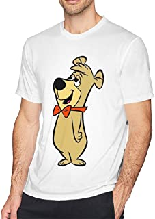 HEETENGGR O-Neck Fashion S Cute Boo Boo Bear Short Sleeve T-Shirt for Mens and Boys Black