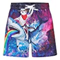 BFUSTYLE Kids Boy's Swim Trunks Mesh Lining Water Resistant Beach Shorts 3-10yrs