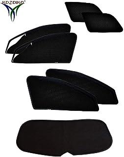 Kozdiko Car Sun Shade for Mahindra XUV 500 (Set of 7, Black)