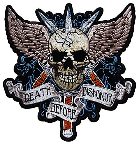 Harley Davidson Set Patch Patches Écusson Aufbügler Skull Backpatch 2 partie Grand