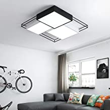 ETH Creative Personality Bedroom Lamp Led Ceiling Lamp Room Lamp Black and White Combination Household Wrought Iron Lamps ...