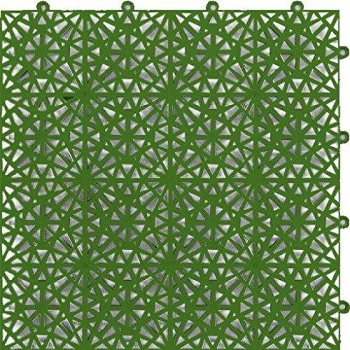 Tegels voor buiten, rand zwembad en tuin, 377,2 x 377,2 mm, 10 mm, zeer hoge kwaliteit, insteekbaar zonder lijm, in enkele seconden Groen