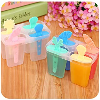 1 4 Rectangle Shaped Reusable Frozen Ice Cream Pop Baking Moulds,11.86.510Cm Ice Cream Popsicle Molds Cooking Tools