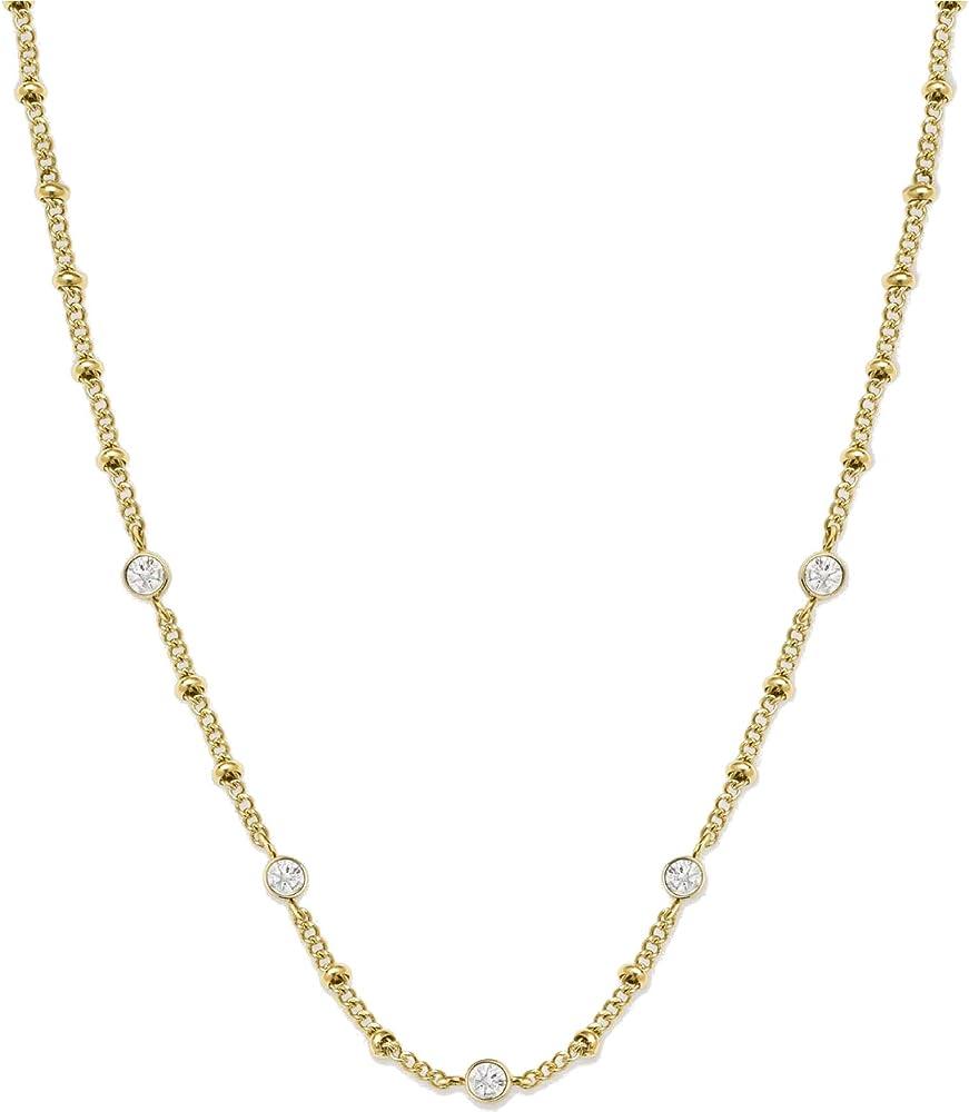 Rosefield, collana pendente da donna, in acciaio inossidabile, decorato con cristalli swarovski JCSCG-J266