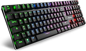 Gesponserte Anzeige – Sharkoon PureWriter RGB Mechanische Low Profile-Tastatur (RGB Beleuchtung, rote Schalter, flache Tas...