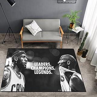 Tritow USA NBA Basketball Tapis NBA James/Kobe Salon Tapis Antidérapant Facile à Nettoyage 3D Tapis De Zone d'impression C...