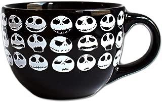 Disney NB4424 Nightmare Before Christmas Jack Face Ceramic Soup Mug, 24-Ounces, Multicolor