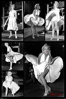 Pyramid America Marilyn Monroe White Dress Collage Movie Cool Wall Decor Art Print Poster 24x36