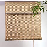 LJA Outdoor Bambusrollo, Holzrollo Im Japanischen Stil, Lichtfilter-Patio/Pavillon/Pergola/Carport-Sonnenschutz (Size : W 90*H 160cm)