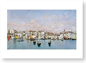 """Official Reproduction of the Prado Museum """"La Riva degli Schiavoni in Venice"""""""
