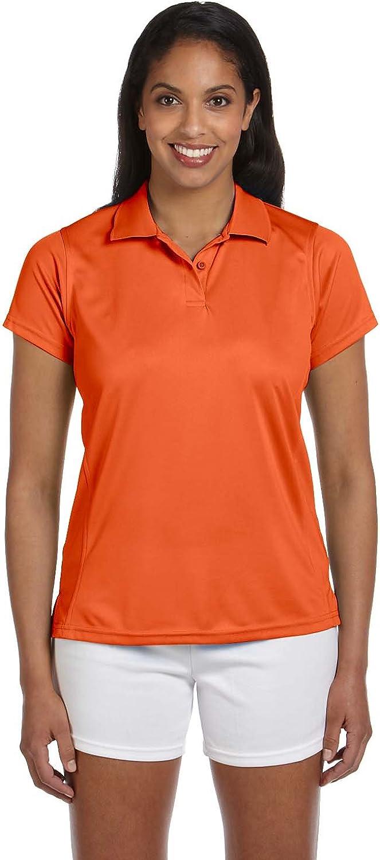 Harriton Women's Breathable Upf 50 Polo Shirt , TEAM ORANGE, Medium