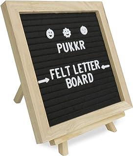Pukkr Tablero de fieltro | 322 Letras Incluidas | Inspiración creativa en el tablero de anuncios | Independiente o montado en la pared 10x10in