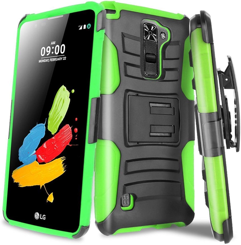 Eagle Cell Belt Clip for LG Stylo 2 Stylus 2 LS775 Stylus 2 Plus K550  Retail Packaging  Green Black