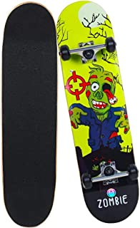 """Mitesbony Skateboards for Beginners & Pro, 31""""x8"""" Complete Skateboards Canadian Maple 9 Layers Double Kick Concave Standard Skate Board for Kids Teens & Adults."""