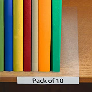 "BestBuddy 10 Pack Moveable Shelf Label Holders 0.75"" x 5"""