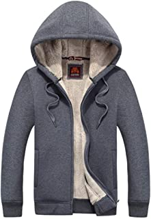 Men 's Winter Warm Coat Cotton Velvet Hooded Jacket
