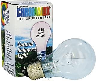 Chromalux Light Bulb Clear 60W 60W Blb