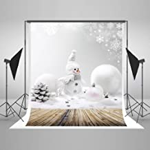 5X7ft Christmas Photography Background Snowman Photography Backdrop Seamless Without Wrinkles Can be Folded